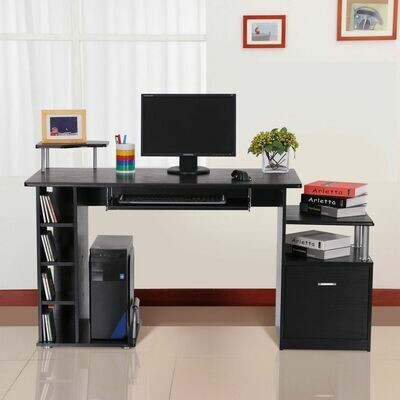 HOMCOM® Computertisch Schreibtisch Arbeitstisch schwarz