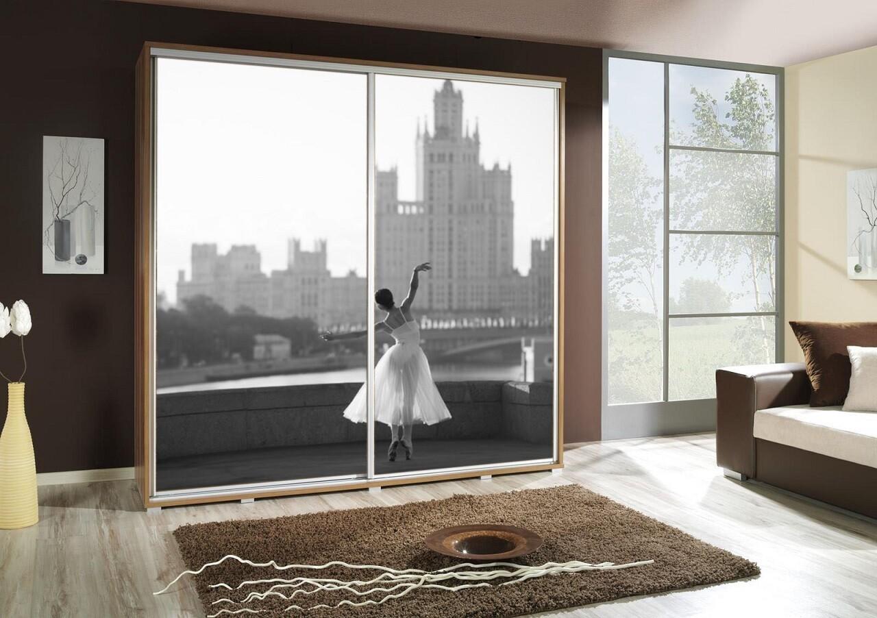 Schiebetürenschrank / Kleiderschrank mit Schiebetür PENELOPA 205cm Motiv: Ballett II