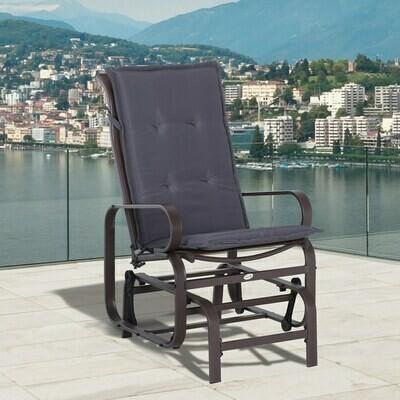 Outsunny® Stuhlauflage Auflage Gartenstuhl Sitzkissen 2er Set Hochlehner Polyester G