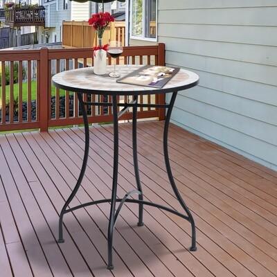 Outsunny® Bierzeltgarnitur 2-in-1 klappbar Sitzgruppe Gartengarnitur 1 x Tisch 2 x Sitzbank Tannenholz Natur 138 x 130 x 73 cm