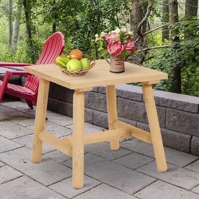 Outsunny® Holzhocker Garten Beistelltisch Gartentisch Kinderstuhl Allzweck Tannenholz Natur 50 x 50 x 48 cm