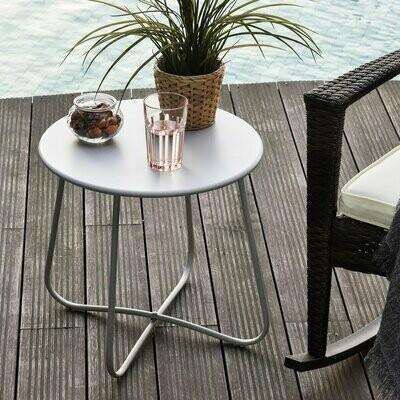 Outsunny® Beistelltisch Garten Couchtisch Kaffeetisch Wohnzimmer Metall Grau