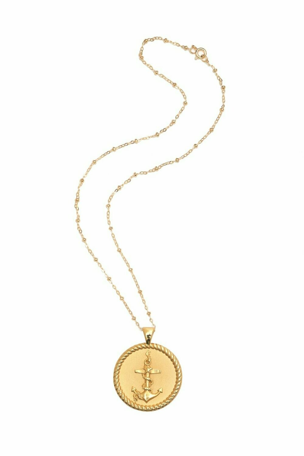 """Jane Winchester Original """"Strong"""" Coin Necklace"""