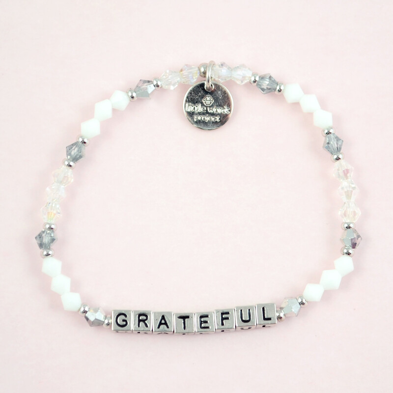 "Little Words Project Silver ""Grateful"" Bracelet"