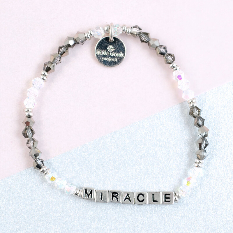 """Little Words Project Silver """"Miracle"""" Bracelet"""