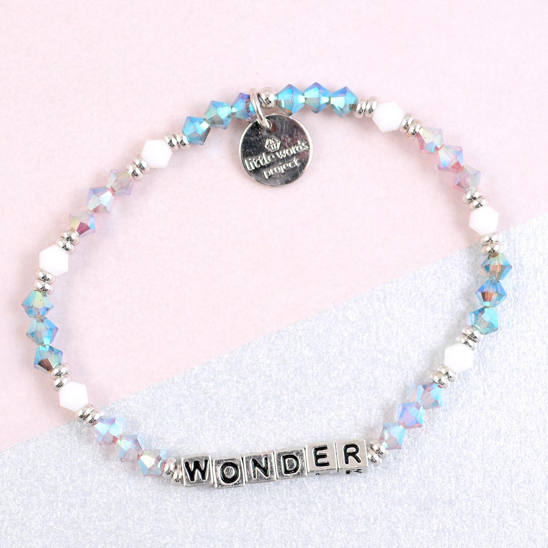"""Little Words Project Silver """"Wonder"""" Bracelet"""