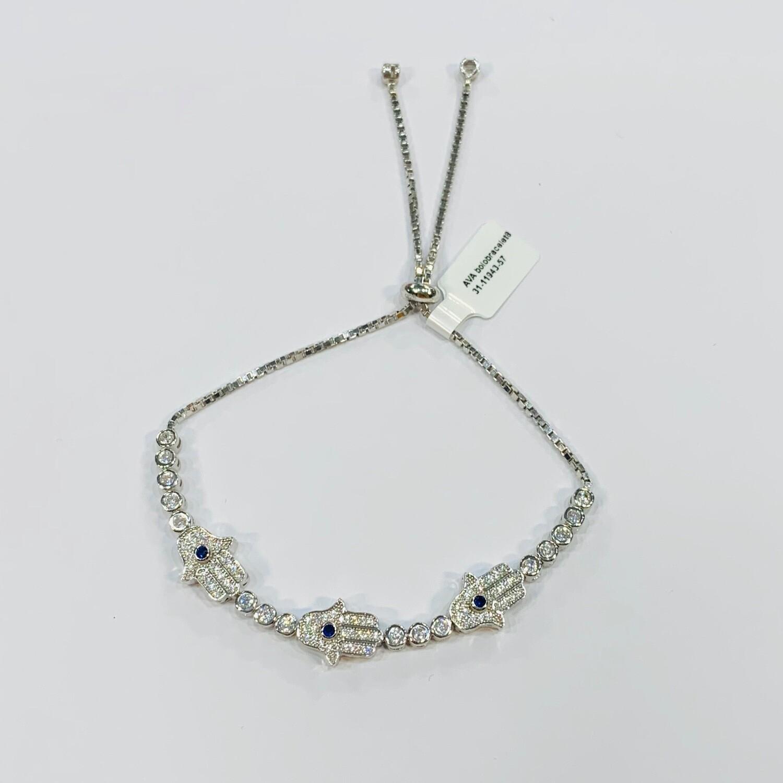 Multi Hamsa Pull Chain Bracelet