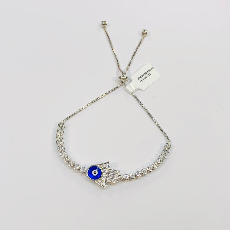 Hamsa with Eye Pull Chain Bracelet