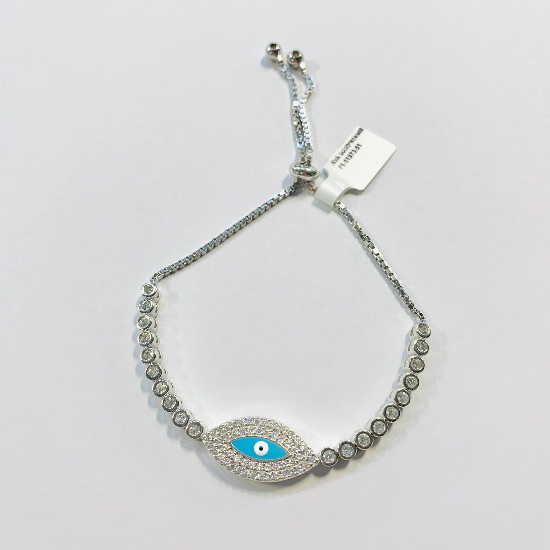 Turquoise Evil Eye Pull Chain Bracelet