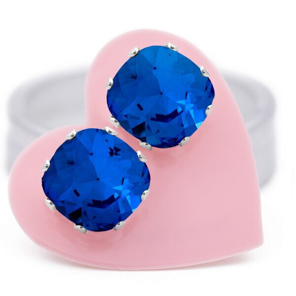 Jojo Loves You Sapphire Cushion Blings
