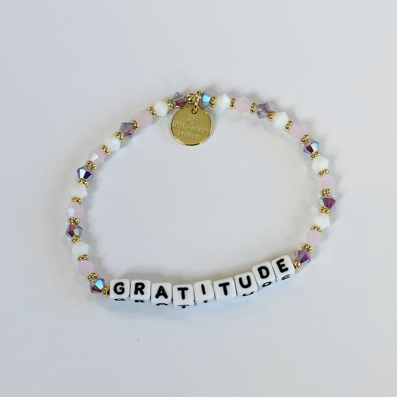 "Little Words Project White ""Gratitude"" Bracelet"