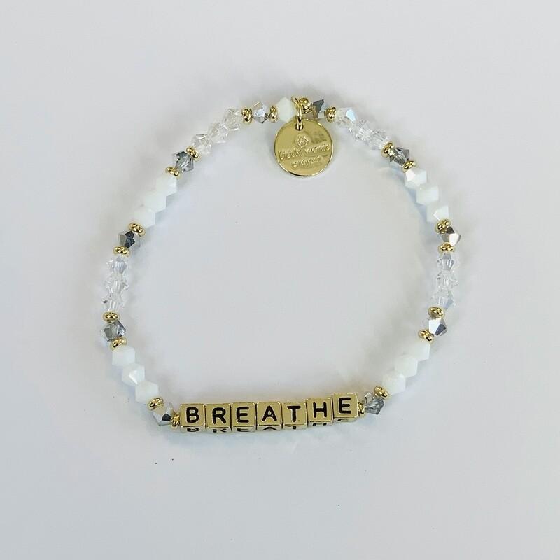 "Little Words Project Gold ""Breathe"" Bracelet"