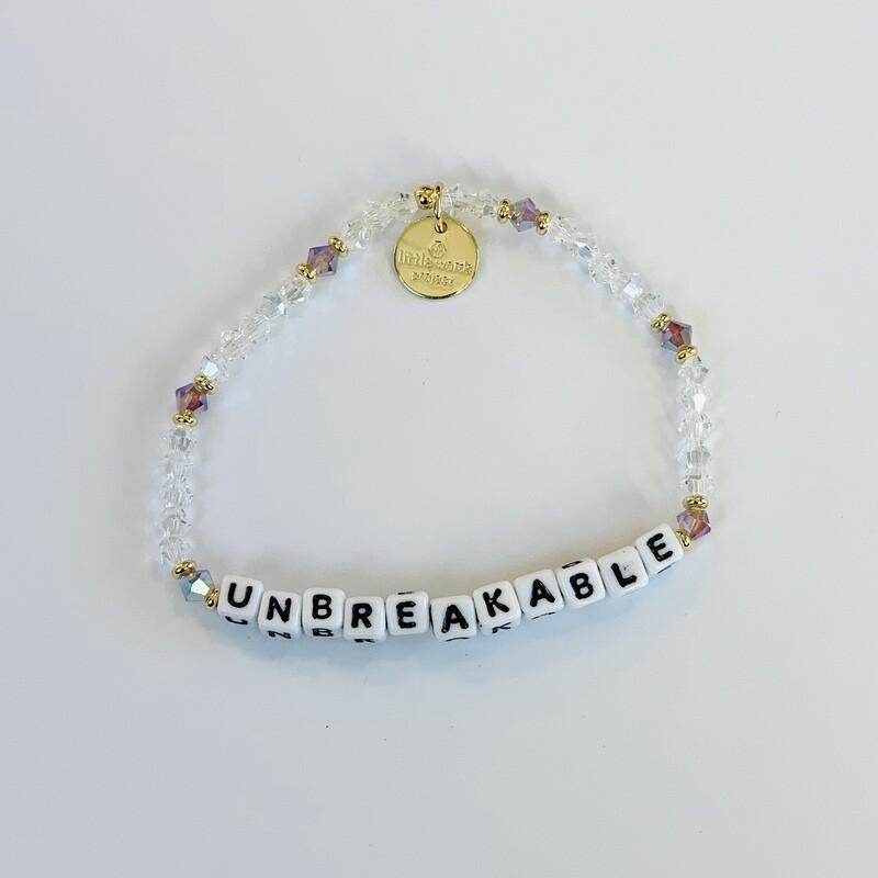 """Little Words Project White """"Unbreakable"""" Bracelet"""
