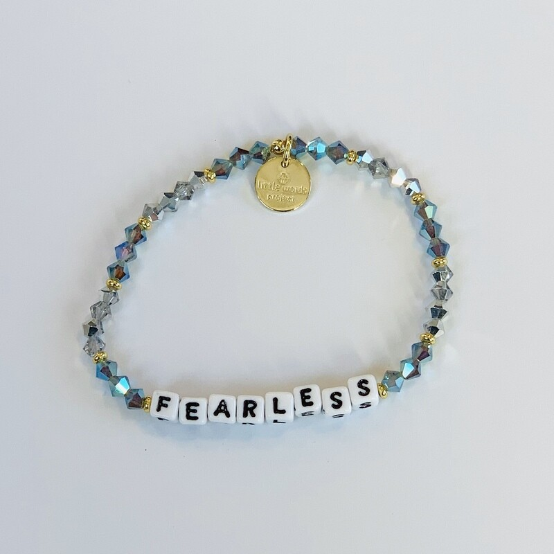 """Little Words Project White """"Fearless"""" Bracelet"""