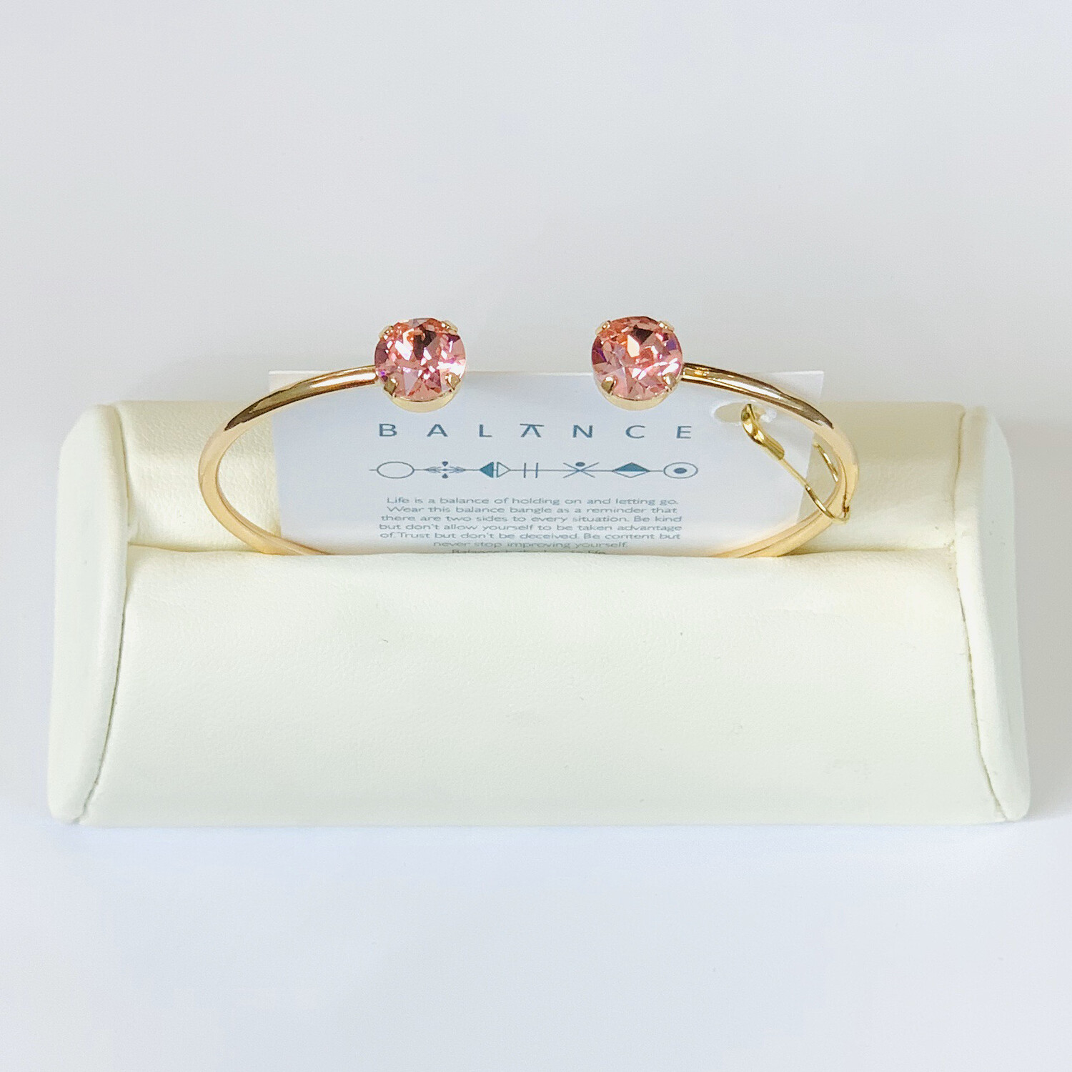 Balance Bracelet Gold/Light Rose