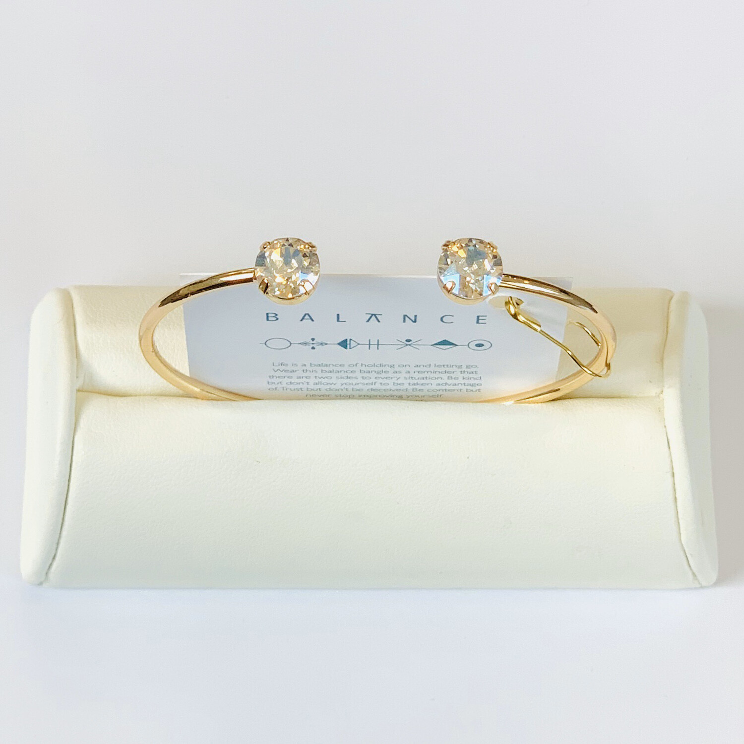 Balance Bracelet Gold/Crystal Moonlight