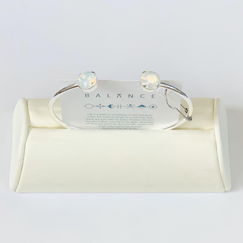 Balance Bracelet Silver/White Opal