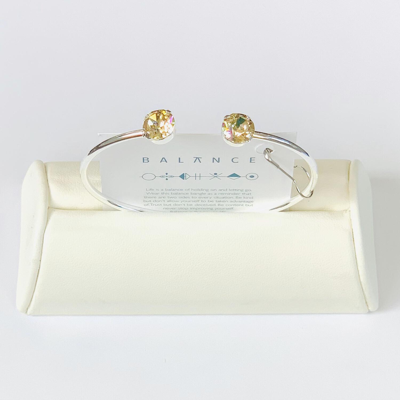 Balance Bracelet Silver/Crushed Golden Crystal