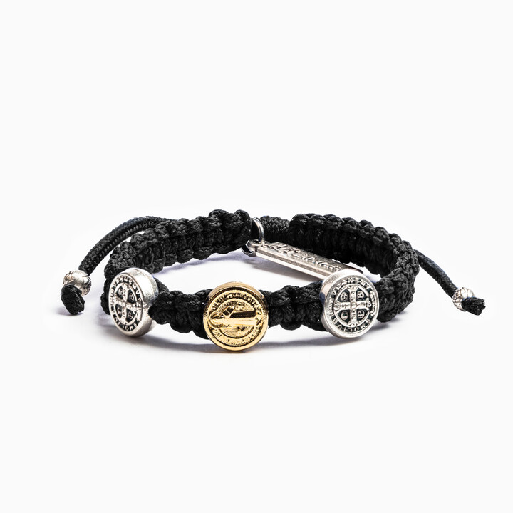 Blessing for Kids Benedictine Blessing Bracelet (Black)