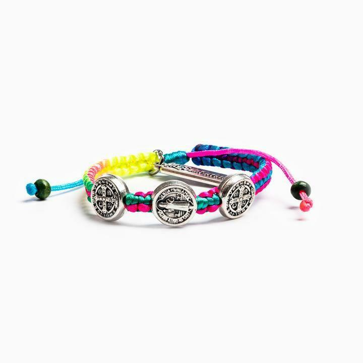 Blessing for Kids Benedictine Blessing Bracelet (Rainbow)