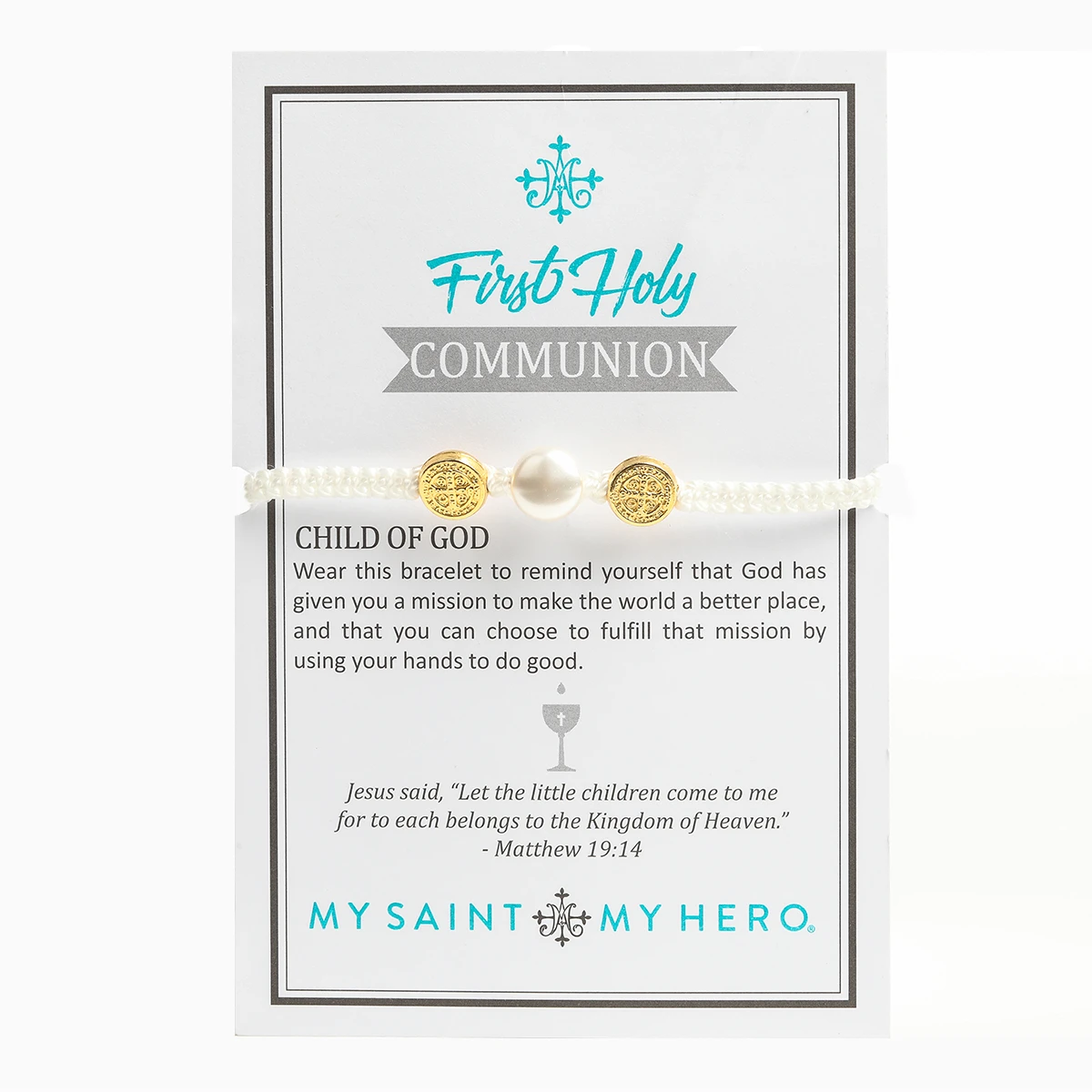First Holy Communion Blessing Bracelet (Gold)