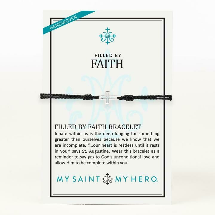 Filled By Faith Bracelet (Silver/Black)