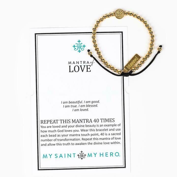 Mantra of Love Bracelet (Gold)