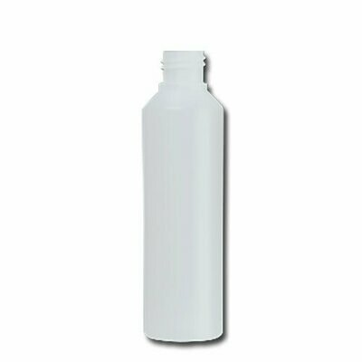 HDPE Industrial natural round bottle 250ml 28/410 including cap