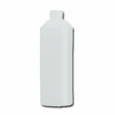 HDPE Industrial natural round bottle 500ml 28/410 including cap