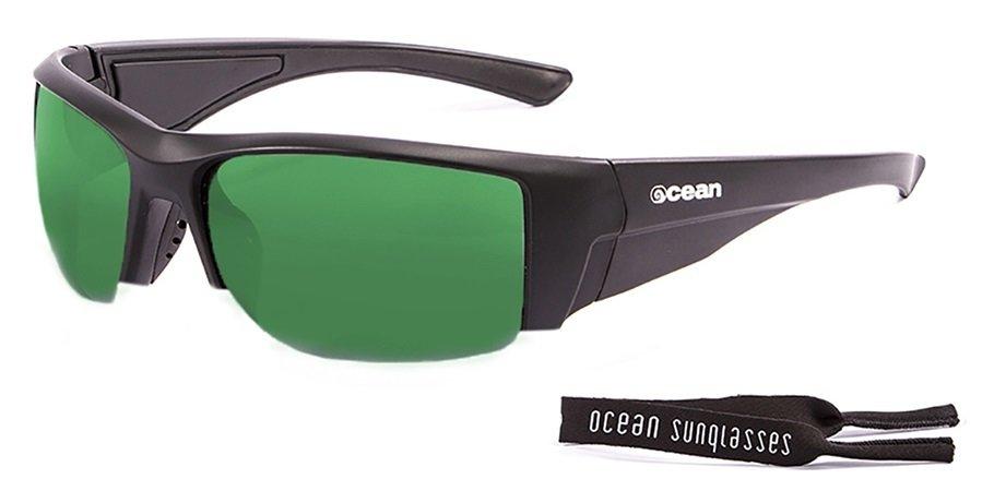 GUADALUPE матовые черные / зеркально-зеленые линзы