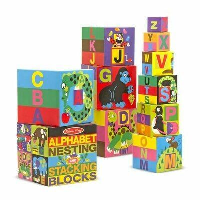 Alphabet Nesting and Stacking Blocks (UC)