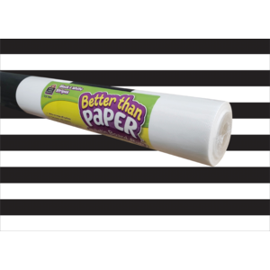 Black & White Stripes Better Than Paper® Bulletin Board Roll (Sold in Case Pack of 20)