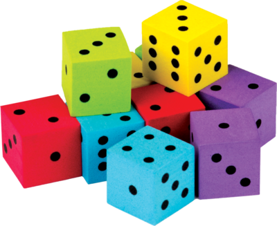 Foam Colorful Dice