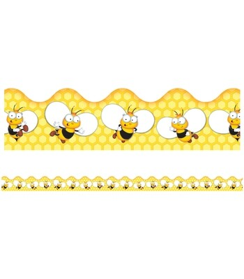 Buzz-Worthy Bees Scalloped Border