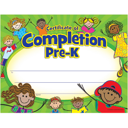 certificate of completion Pre-K