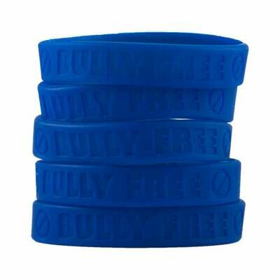 bully free wristbands blue