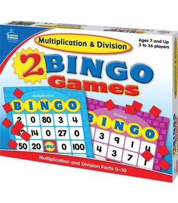 2 Bingo Games Multiplication and Division