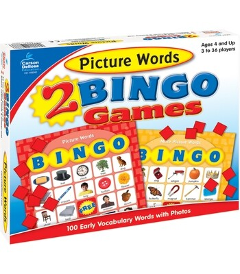 2 Bingo Games Picture Words