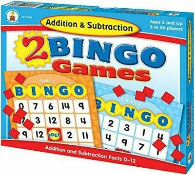 2 Bingo Games Addition Subtraction