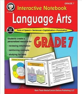 Interactive Notebook Language Arts (Grade 7)