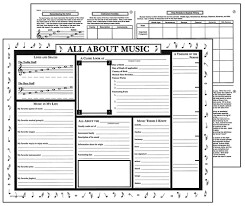 Activity Posters All About Music