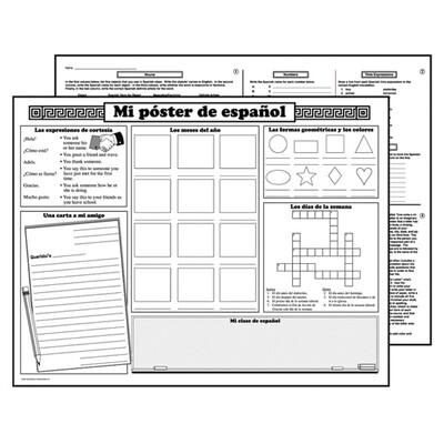 Basic Spanish Activity Posters