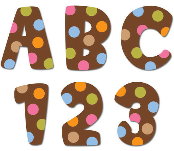 """Dots on Chocolate Uppercase Letter (1 inch"""")"""