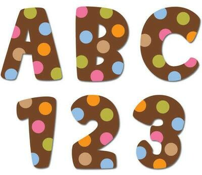 Dots on Chocolate Uppercase Letter (1 inch