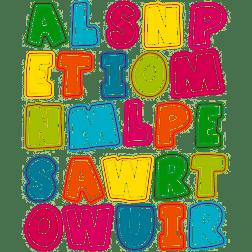 Alphabet Uppercase Stickers