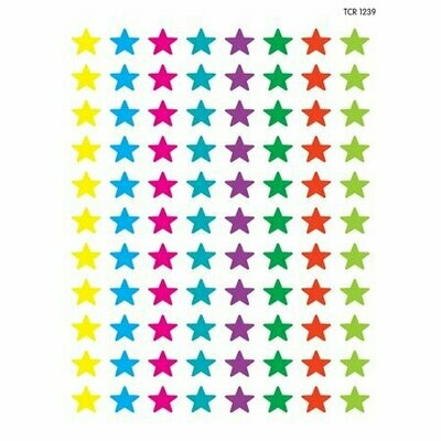 528 Mini Star  Stickers colored