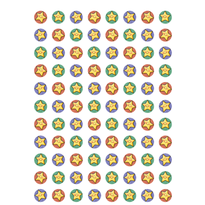 528 Star Stickers Colored