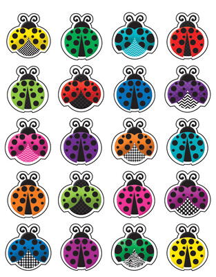 Colorful Ladybugs Stickers