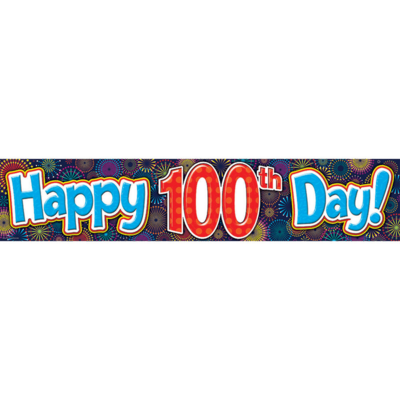 100th Day Of School Banner