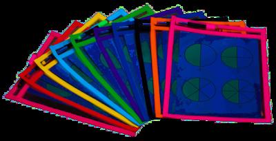 10 Dry Erase Pockets